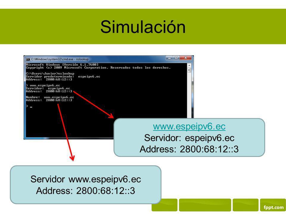 Servidor www.espeipv6.ec