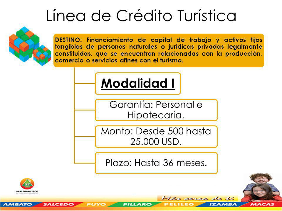 Línea de Crédito Turística