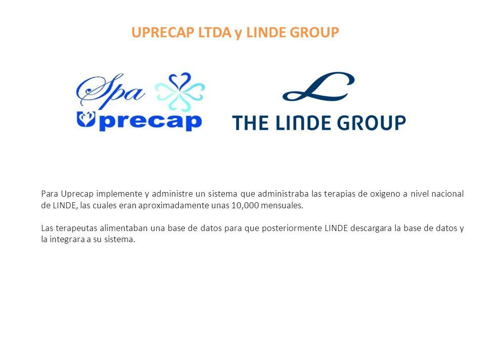UPRECAP LTDA y LINDE GROUP