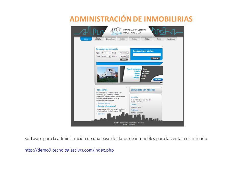ADMINISTRACIÓN DE INMOBILIRIAS