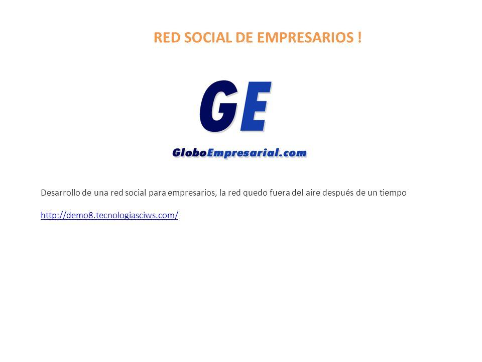 RED SOCIAL DE EMPRESARIOS !
