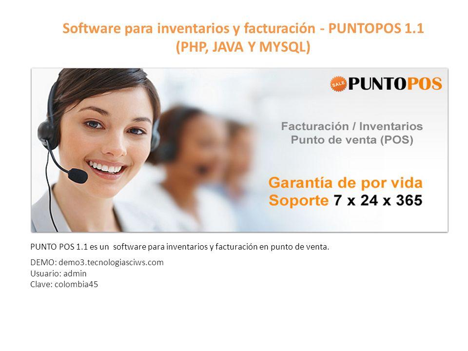 Software para inventarios y facturación - PUNTOPOS 1