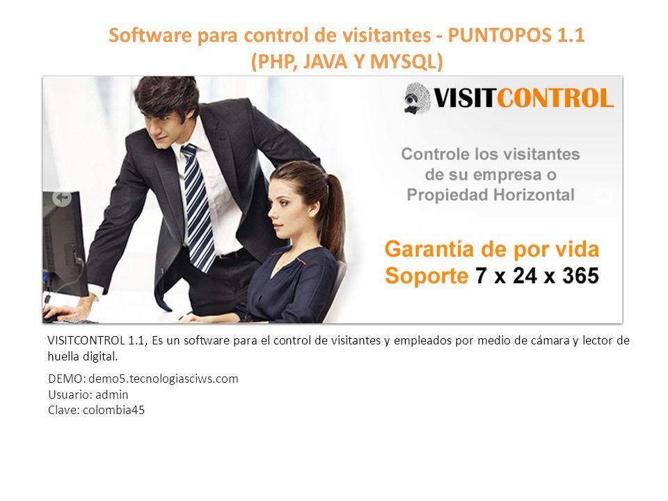 Software para control de visitantes - PUNTOPOS 1.1 (PHP, JAVA Y MYSQL)
