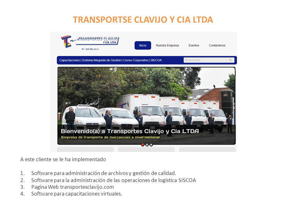 TRANSPORTSE CLAVIJO Y CIA LTDA