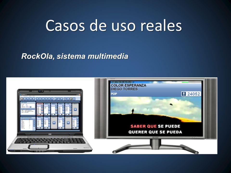 Casos de uso reales RockOla, sistema multimedia