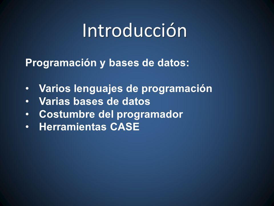 Introducción Programación y bases de datos: