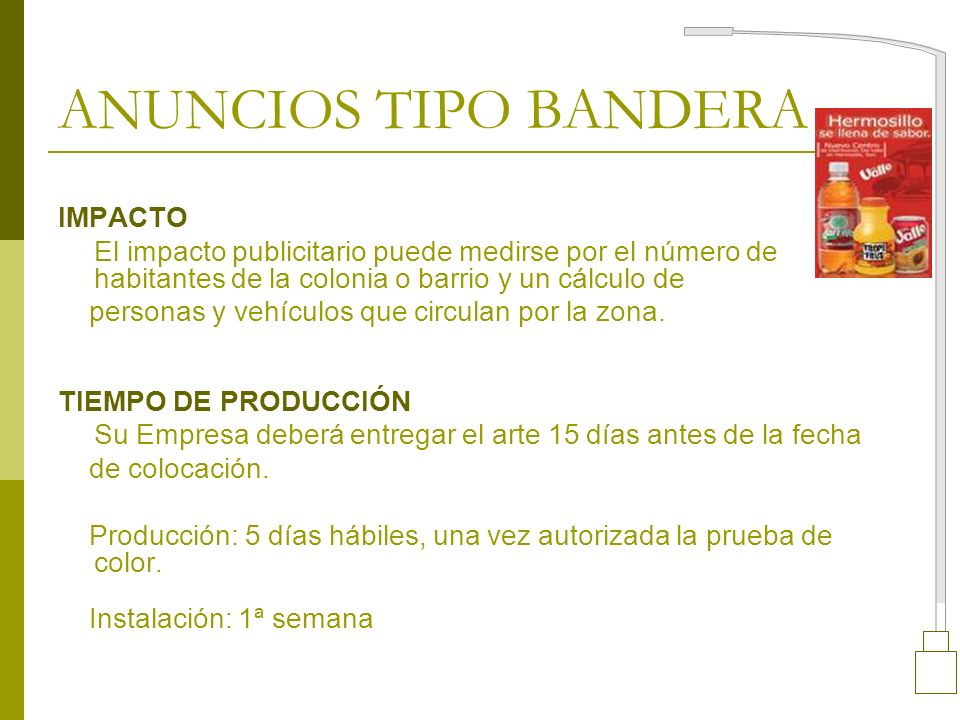 ANUNCIOS TIPO BANDERA IMPACTO