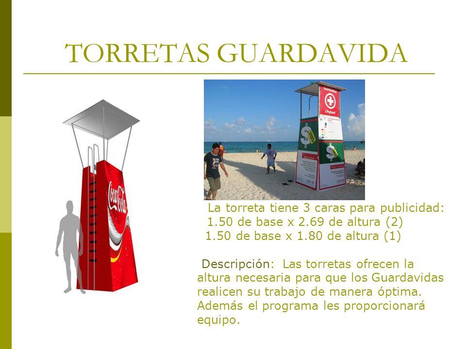 TORRETAS GUARDAVIDA 1.50 de base x 2.69 de altura (2)