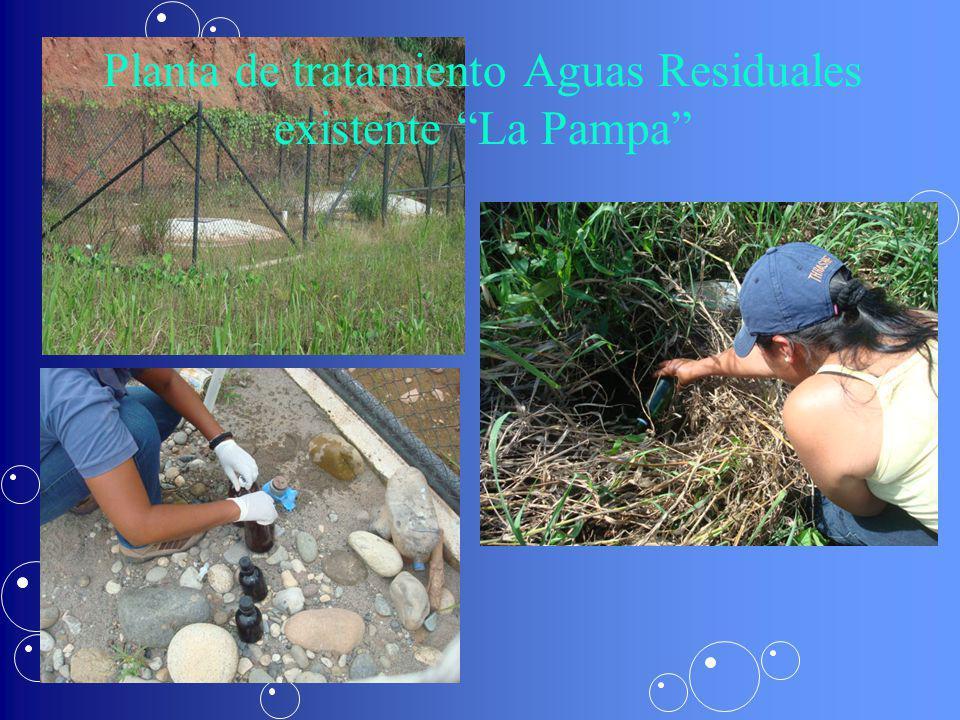 Planta de tratamiento Aguas Residuales existente La Pampa