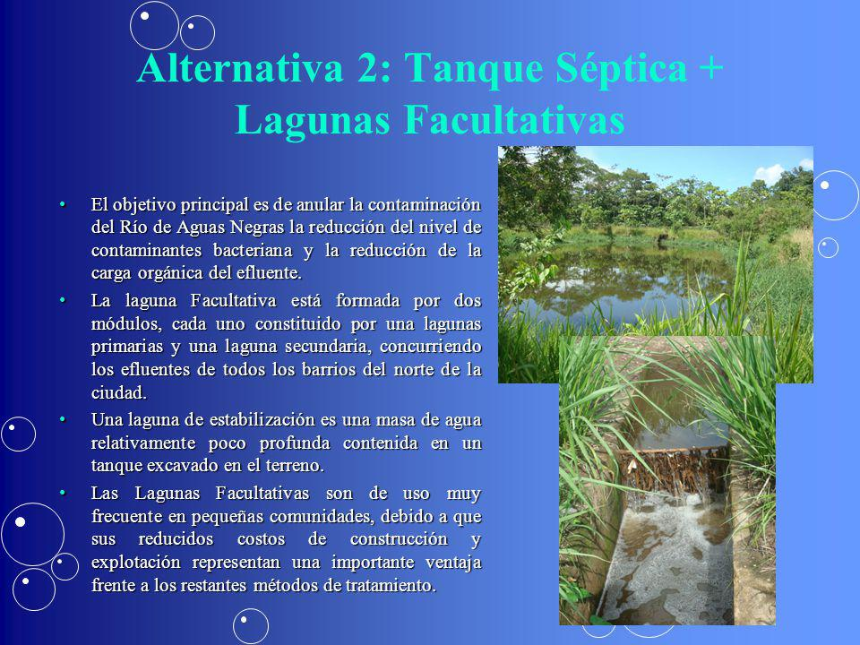 Alternativa 2: Tanque Séptica + Lagunas Facultativas