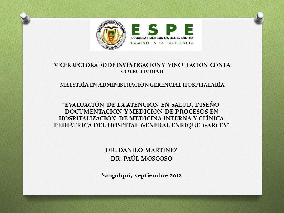 VICERRECTORADO DE INVESTIGACIÓN Y VINCULACIÓN CON LA COLECTIVIDAD MAESTRÍA EN ADMINISTRACIÓN GERENCIAL HOSPITALARÍA
