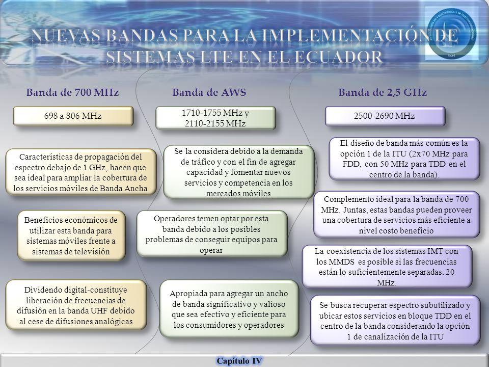 NUEVAS BANDAS PARA LA IMPLEMENTACIÓN DE SISTEMAS LTE EN EL ECUADOR