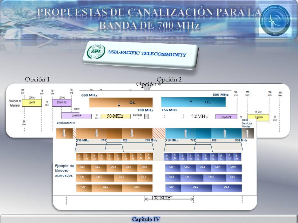 PROPUESTAS DE CANALIZACIÓN PARA LA BANDA DE 700 MHz