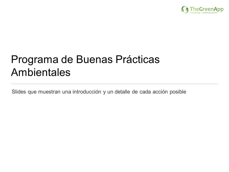 Programa de Buenas Prácticas Ambientales