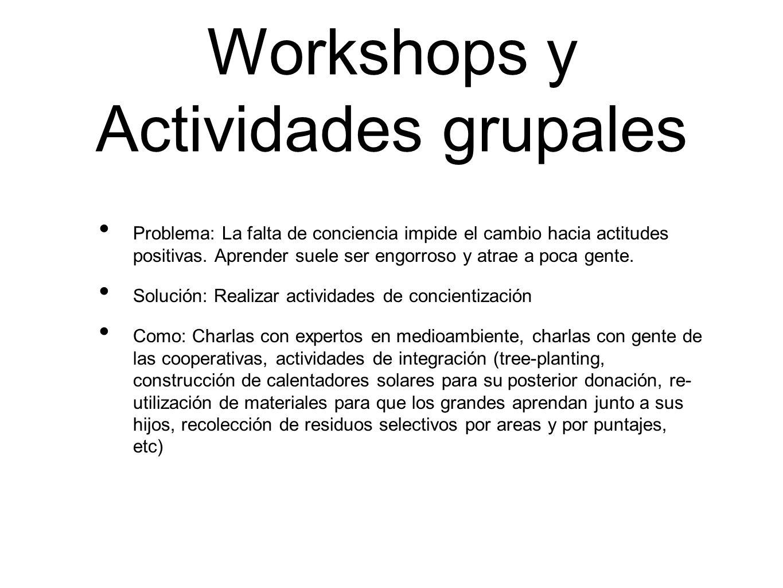 Workshops y Actividades grupales