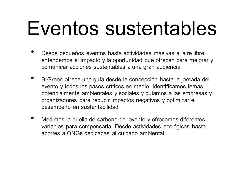 Eventos sustentables