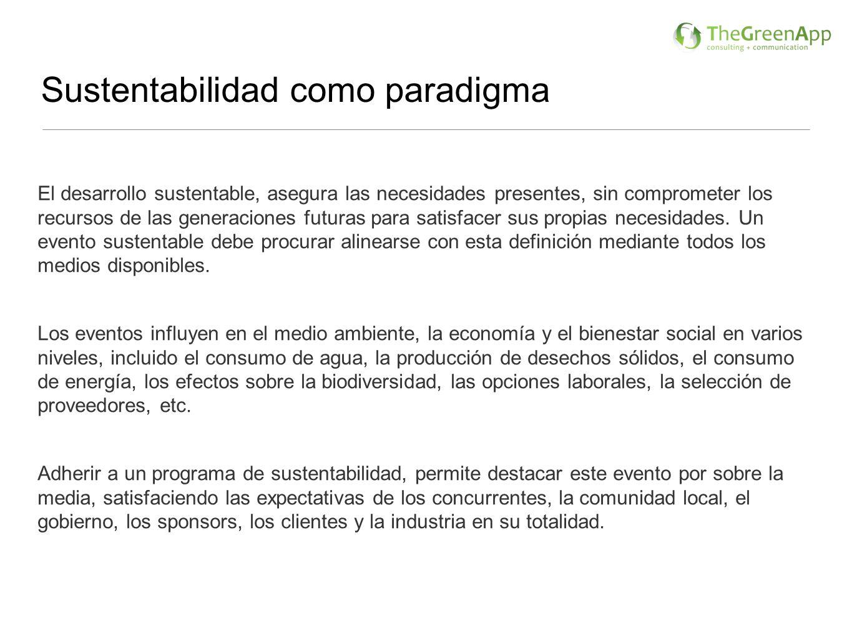 Sustentabilidad como paradigma