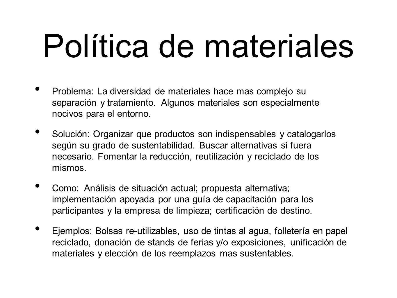 Política de materiales