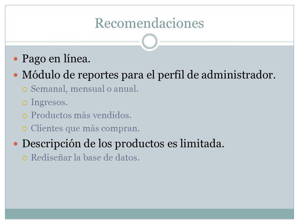Recomendaciones Pago en línea.