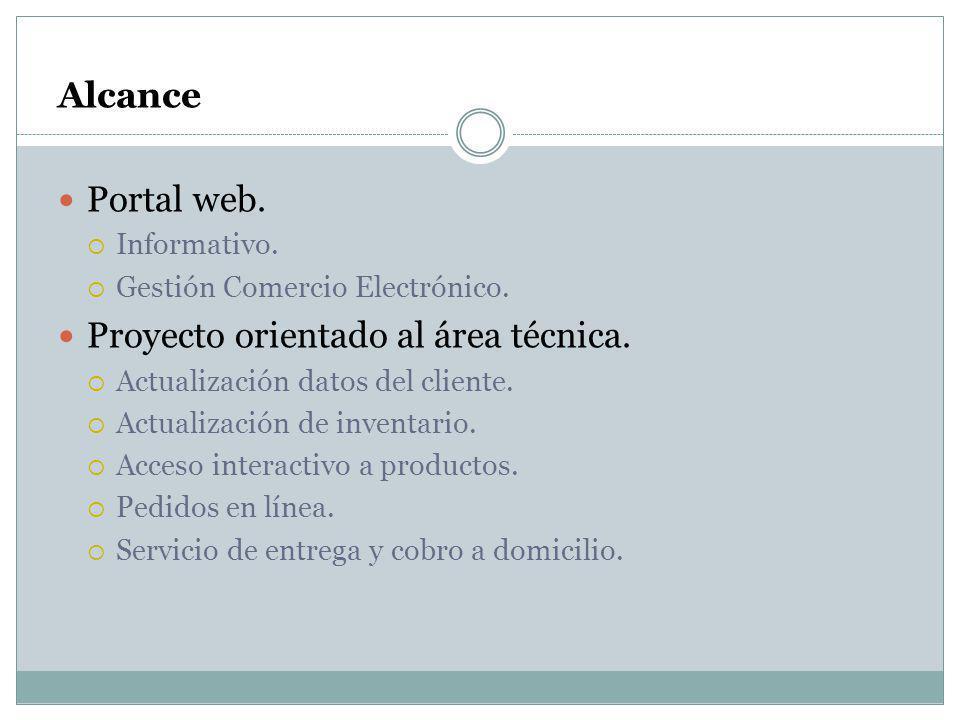 Proyecto orientado al área técnica.