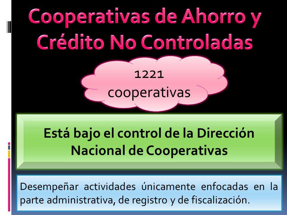 Cooperativas de Ahorro y Crédito No Controladas
