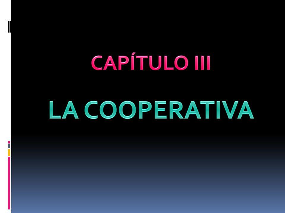 CAPÍTULO III LA COOPERATIVA