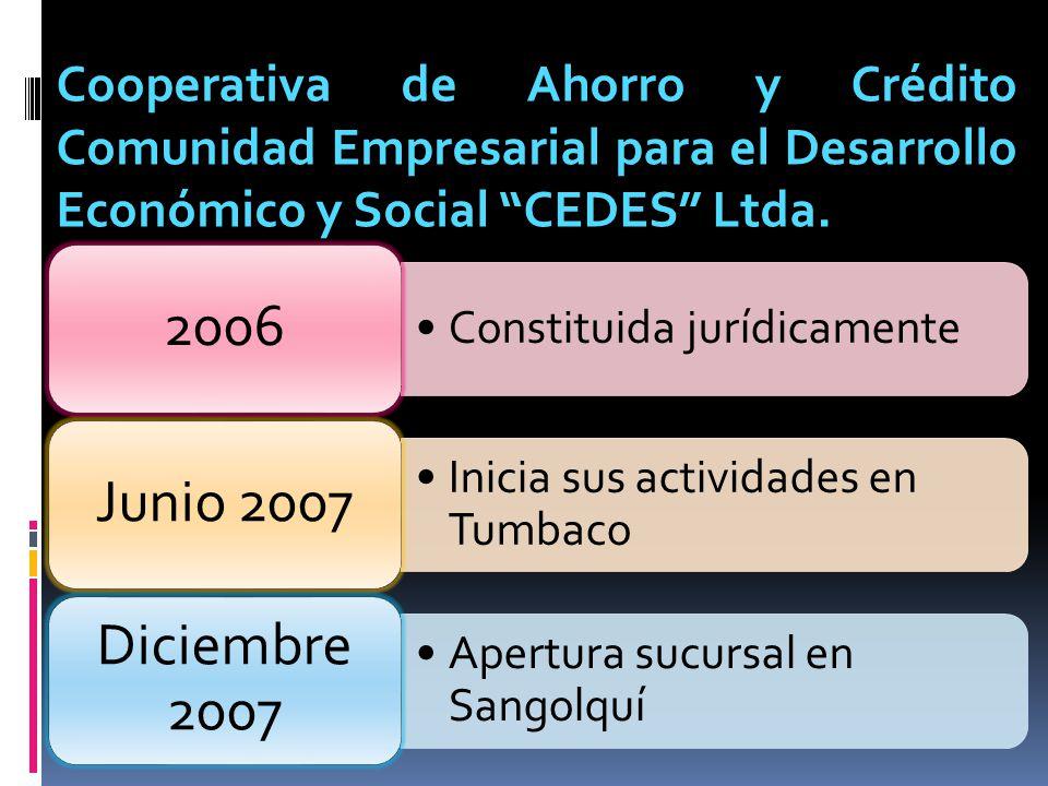 Cooperativa de Ahorro y Crédito Comunidad Empresarial para el Desarrollo Económico y Social CEDES Ltda.