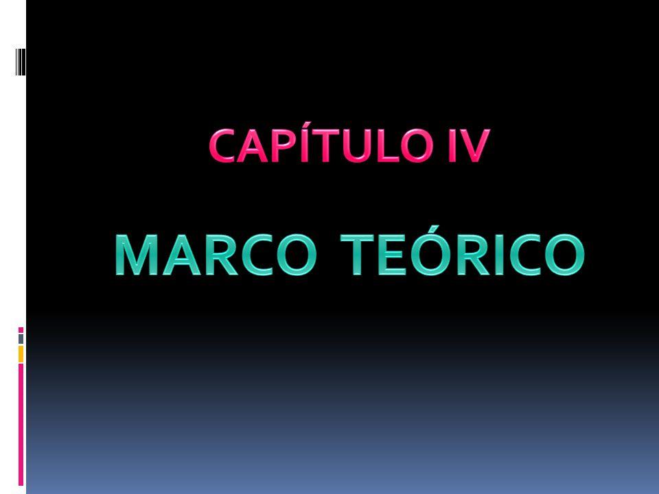 CAPÍTULO IV MARCO TEÓRICO