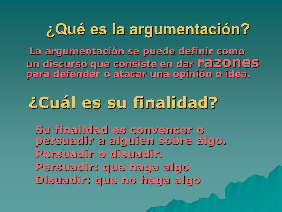 ¿Qué es la argumentación