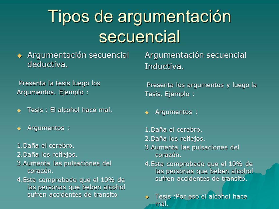 Tipos de argumentación secuencial