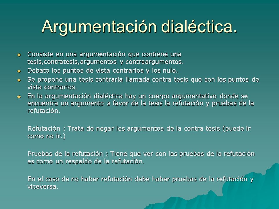 Argumentación dialéctica.