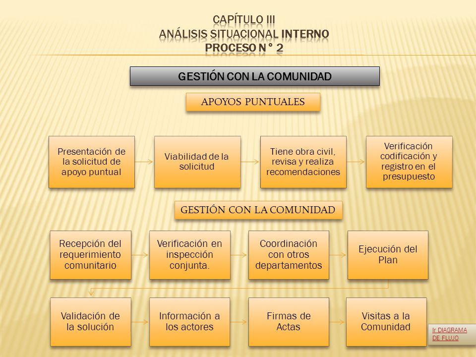 CAPÍTULO III ANÁLISIS SITUACIONAL INTERNO PROCESO N° 2