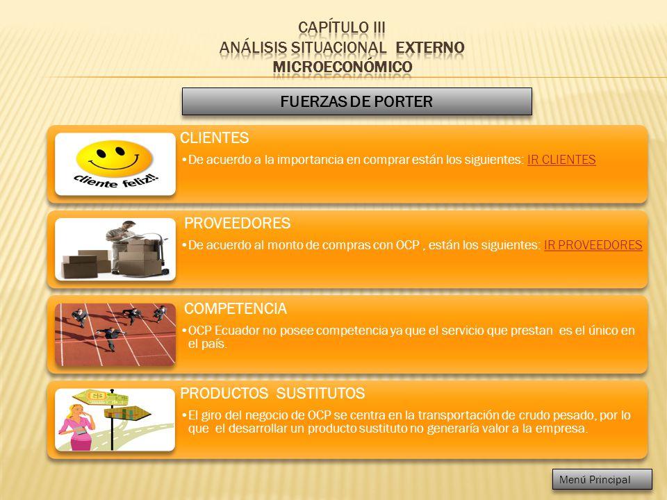 CAPÍTULO III ANÁLISIS SITUACIONAL EXTERNO MICROECONÓMICO