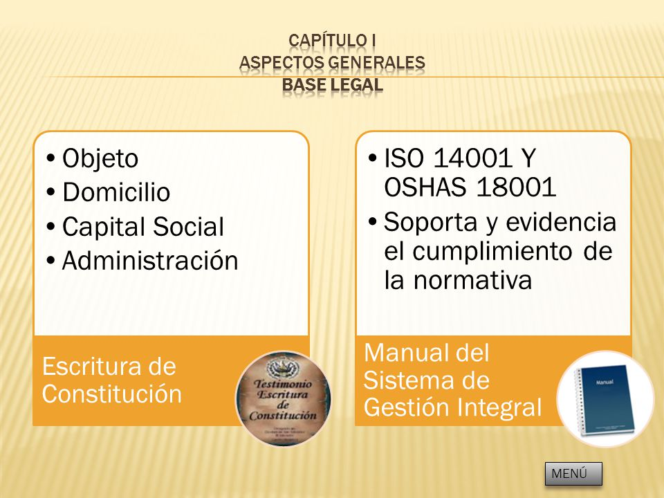 CAPÍTULO I ASPECTOS GENERALES BASE LEGAL