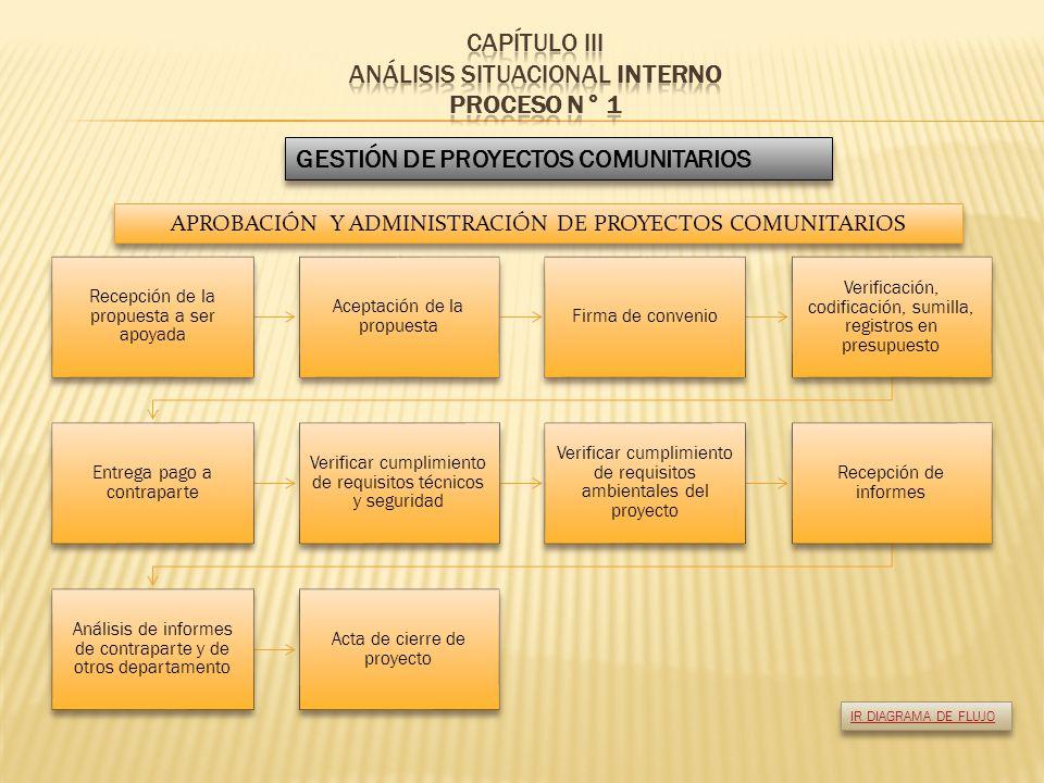 CAPÍTULO III ANÁLISIS SITUACIONAL INTERNO PROCESO N° 1
