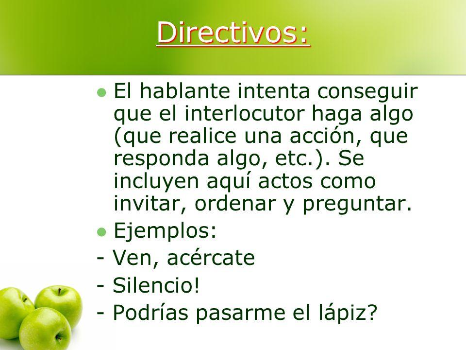 Directivos: