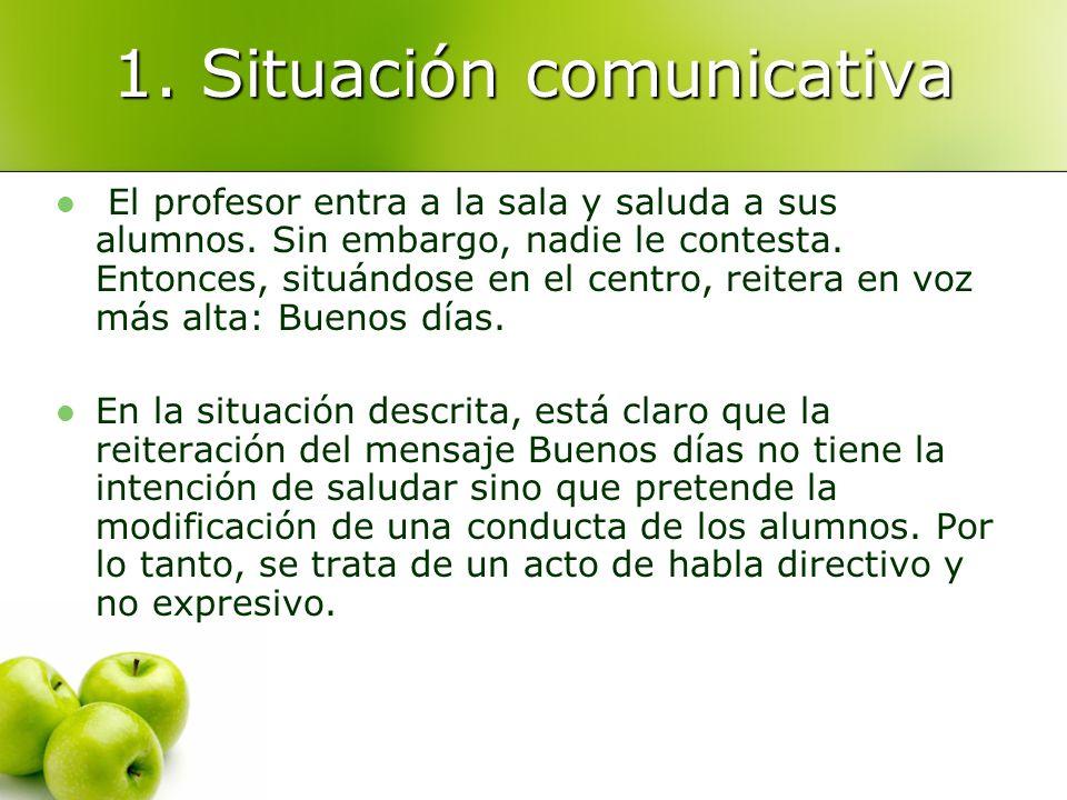 1. Situación comunicativa