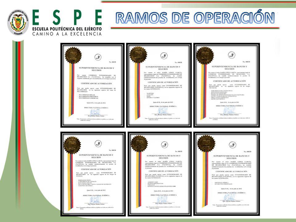 RAMOS DE OPERACIÓN