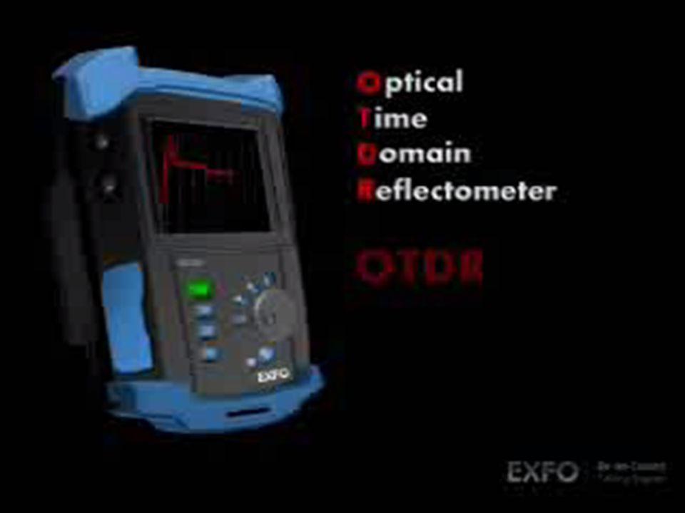 El OTDR es un instrumento optico de prueba usado para detectar la perdida de luz en un hilo de fibra inyectando pequenos pulsos de luz en el nucleo y midiendo el nivel de retrodspesion en todos los puntos a lo largo de la fibra.