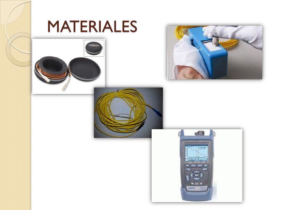 MATERIALES Para realizar la prueba se necesita: