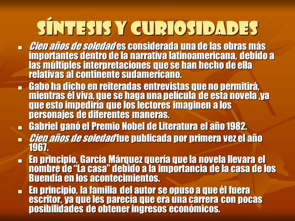 Síntesis y curiosidades