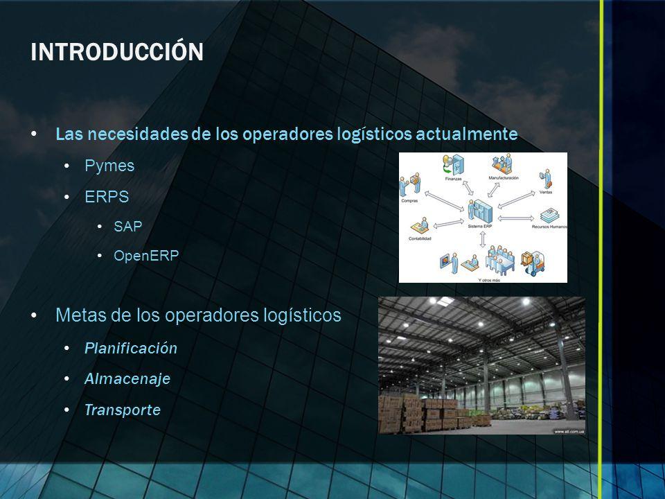 INTRODUCCIÓN Las necesidades de los operadores logísticos actualmente