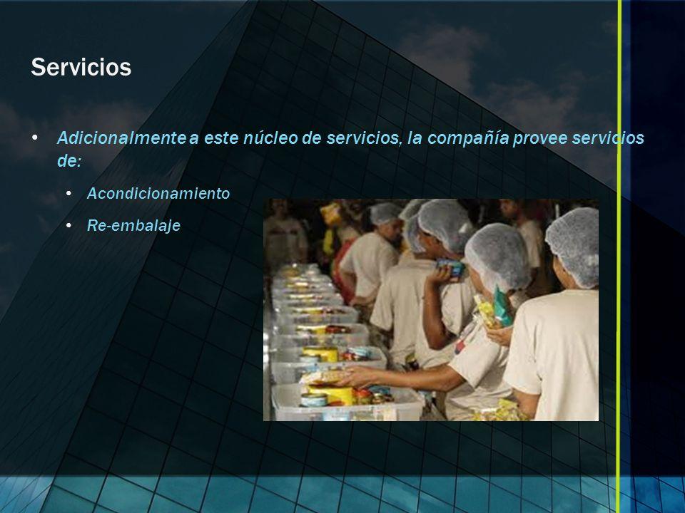 Servicios Adicionalmente a este núcleo de servicios, la compañía provee servicios de: Acondicionamiento.
