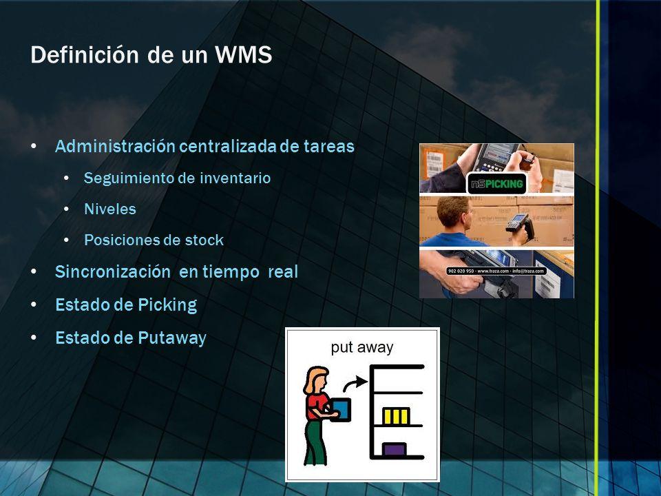 Definición de un WMS Administración centralizada de tareas