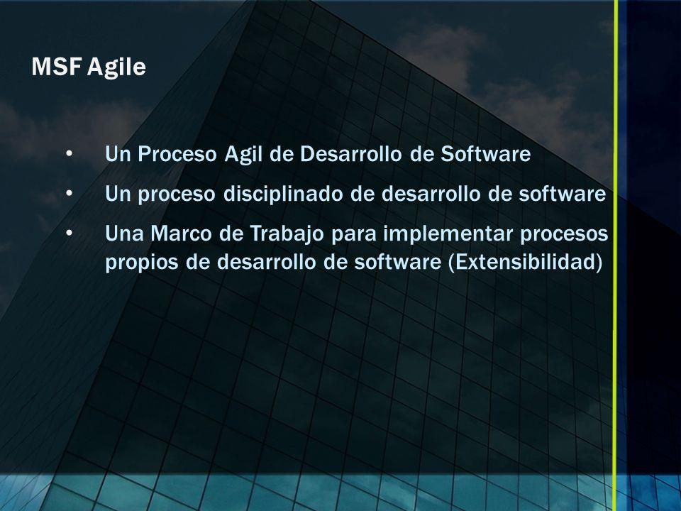 MSF Agile Un Proceso Agil de Desarrollo de Software