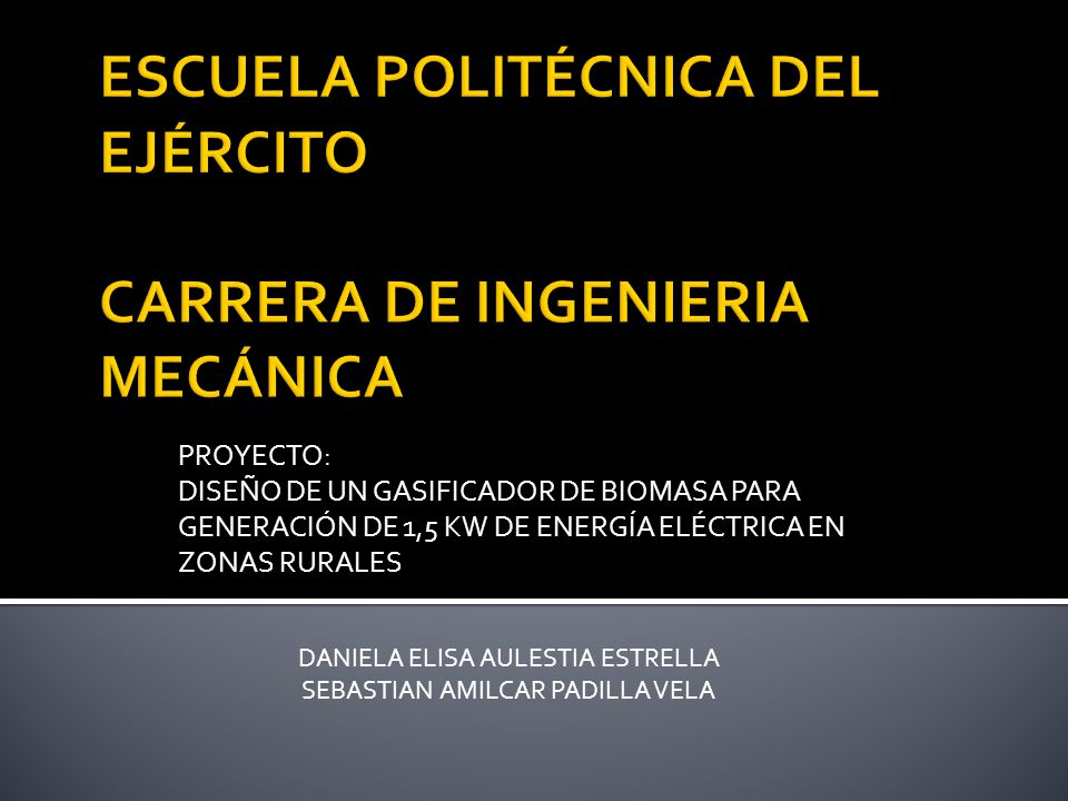 ESCUELA POLITÉCNICA DEL EJÉRCITO CARRERA DE INGENIERIA MECÁNICA