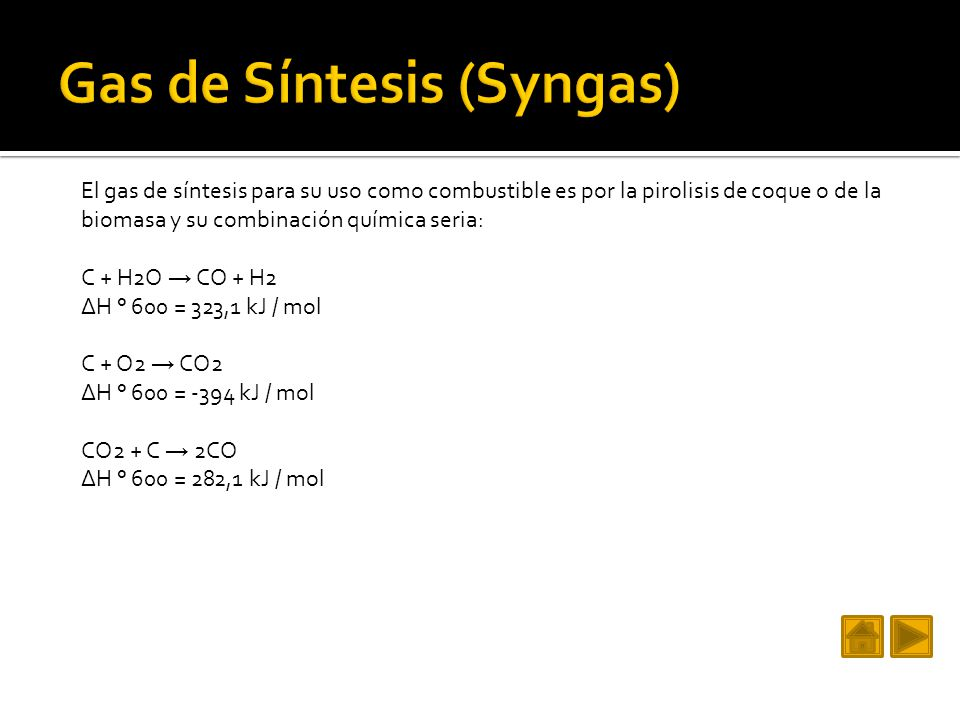 Gas de Síntesis (Syngas)
