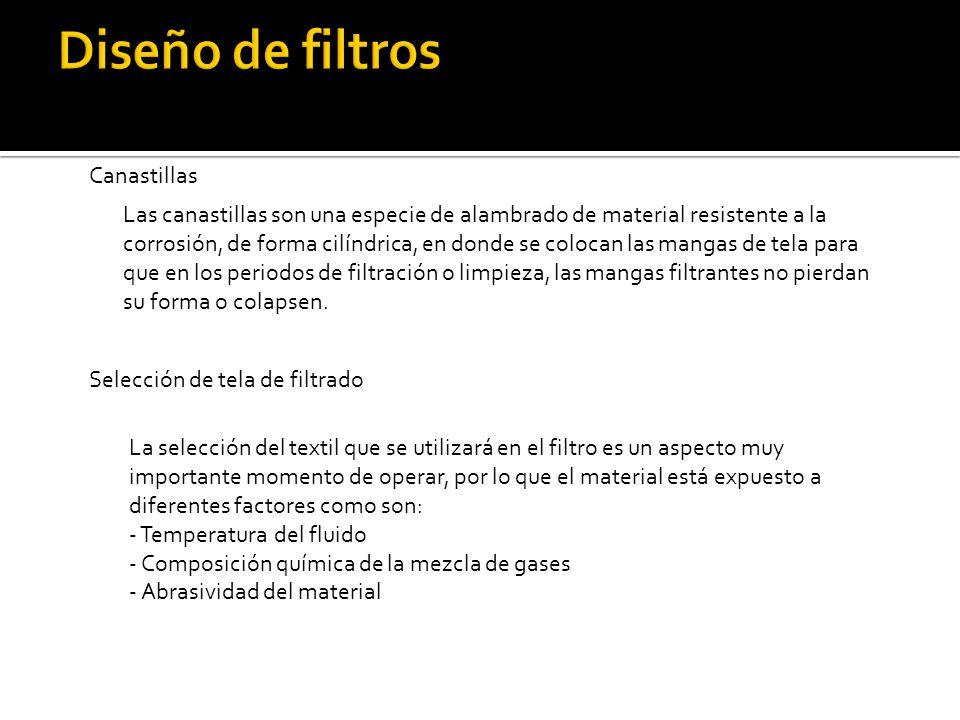 Diseño de filtros Canastillas