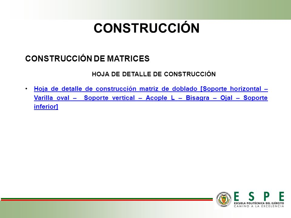 HOJA DE DETALLE DE CONSTRUCCIÓN
