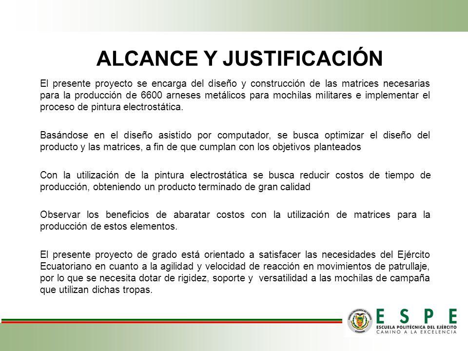ALCANCE Y JUSTIFICACIÓN